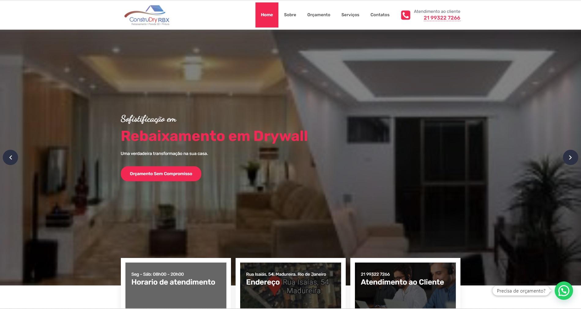 Imagem do site da construdry rbx