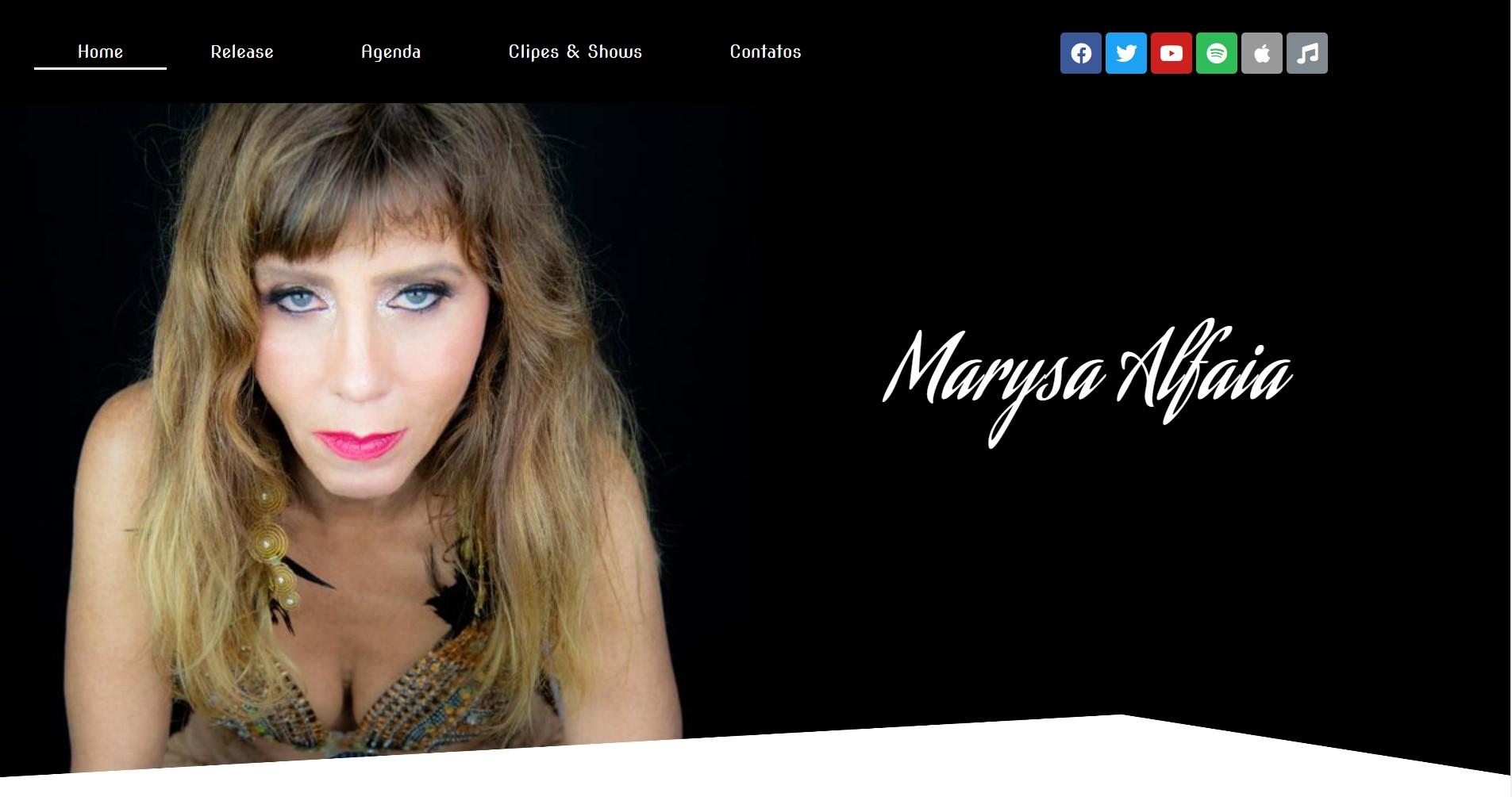 Site da cantora Marysa Alfaia