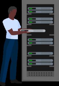 Montagem de servidor